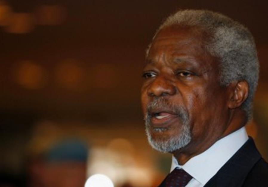 U.N.-Arab League envoy Kofi Annan.