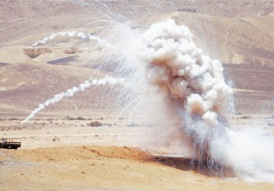 IDF live-fire display in the South
