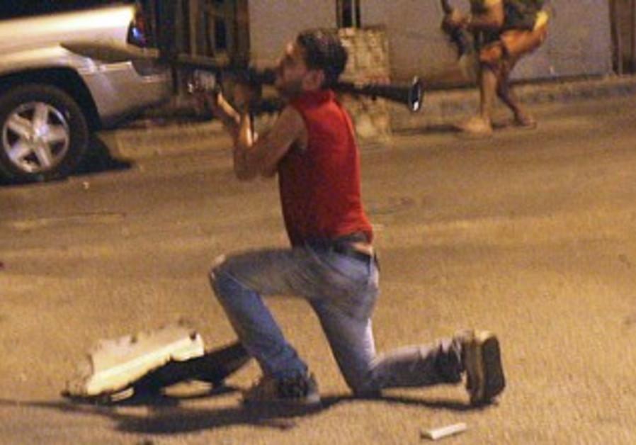 Hezbollah gunman in Beirut