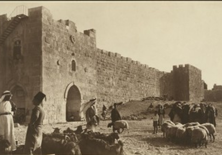 sheep market outside of Herod's Gate (circa 1900)