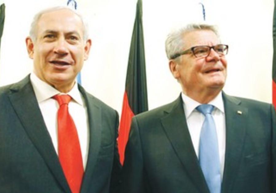 PM Netanyahu and German President Gauck
