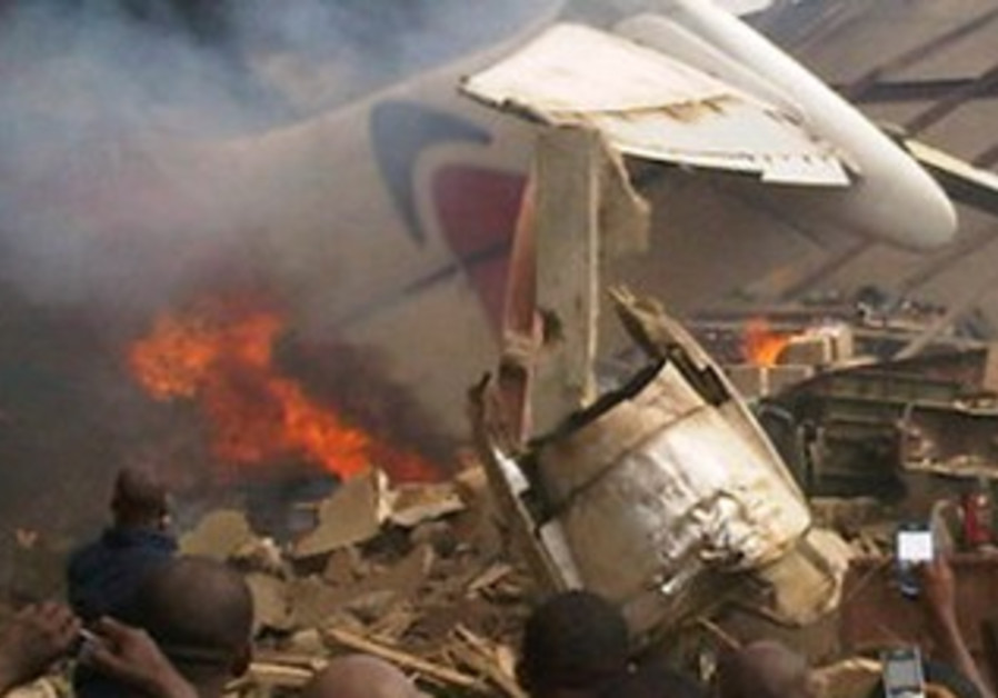 Plane crashes in downtown Lagos, Nigeria