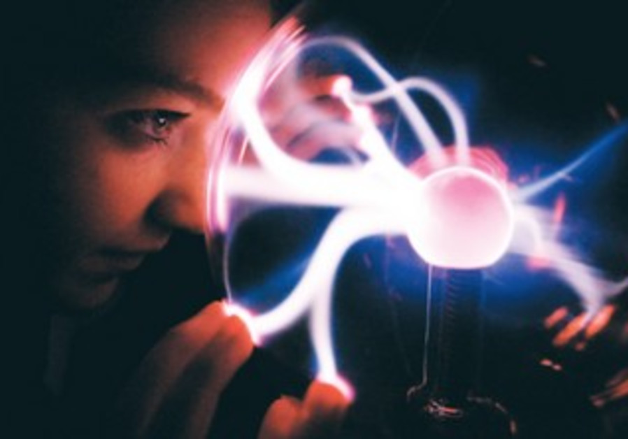GEMMA MCINLAY looks into a plasma ball