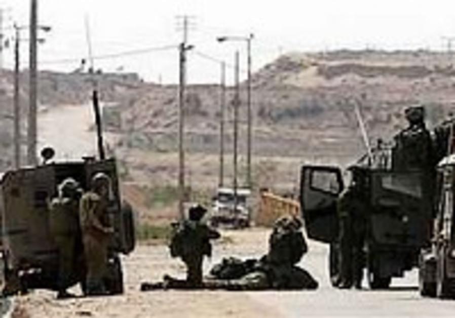 IDF scout moderately hurt near Gaza