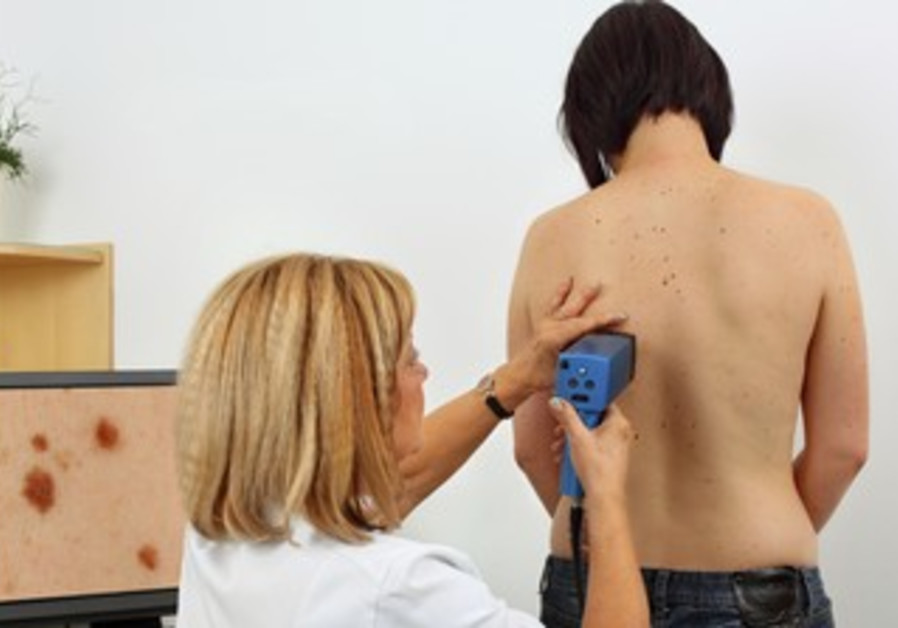 Patient tested for skin cancer