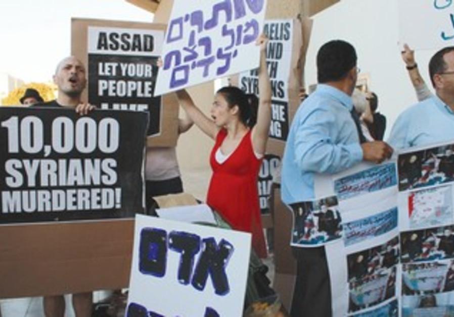 Protests at Russian embassy