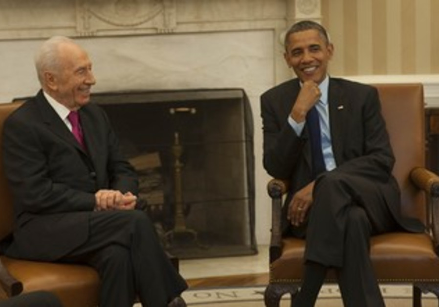 President Peres and US President Obam