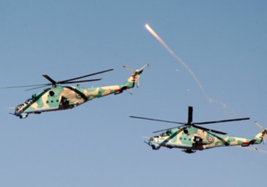 Syrian army helicopters [file]