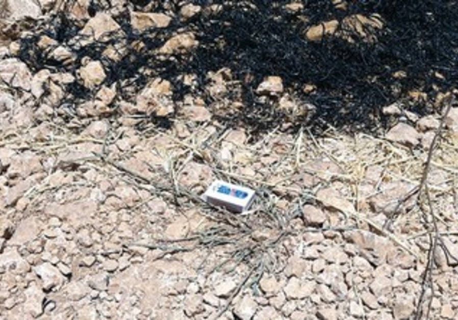 PACKET OF MATCHES at scene of J'lem fire