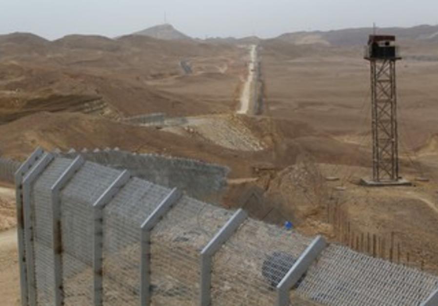 Border between Israel, Egypt along Road 12