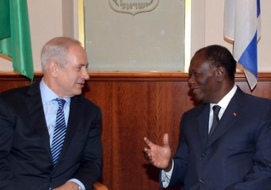 Netanyahu meets Cote d'Ivoire President Ouattara