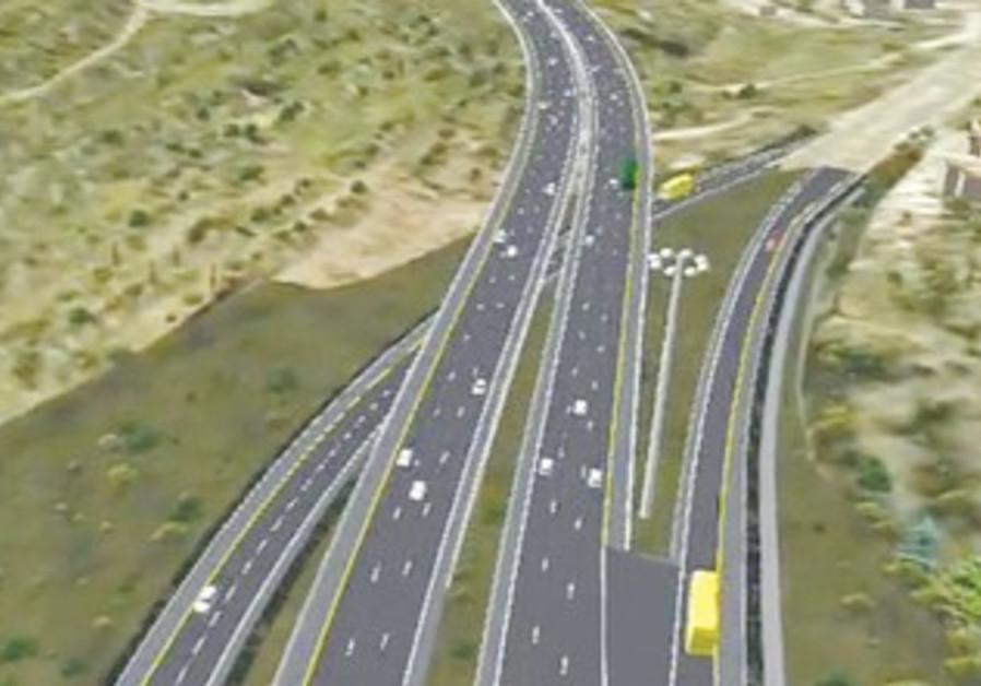 UPGRADED Highway 1 shown in artist's rendering
