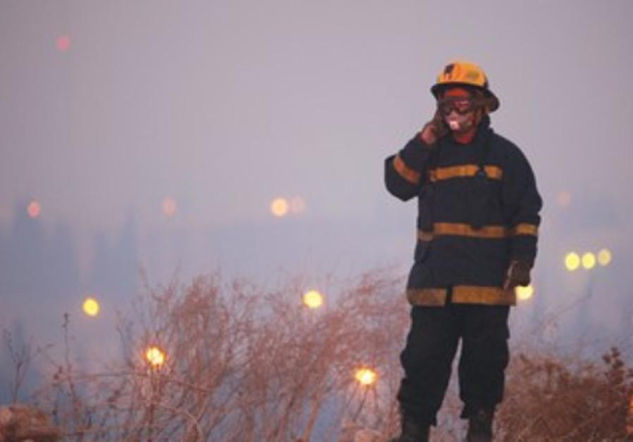 Firefighter during Carmel fire