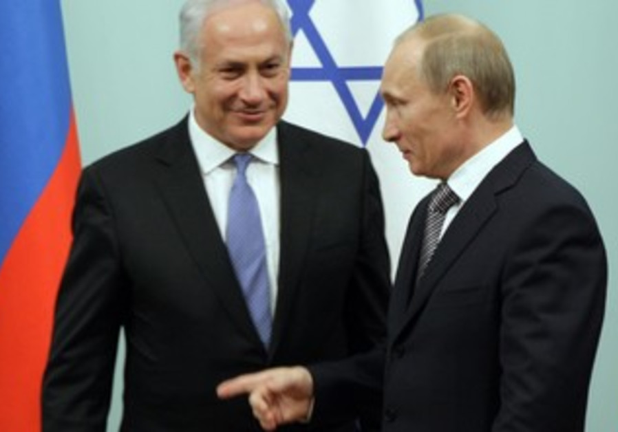 Russia's Putin with Netanyahu in Moscow in 2011