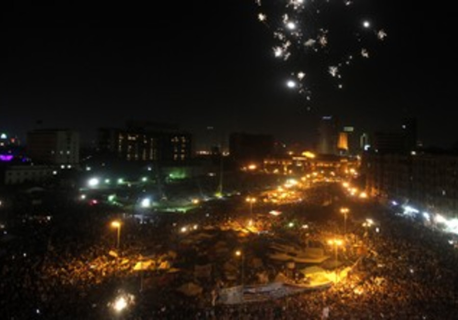 Morsy supporters demonstrate in Tahrir Square