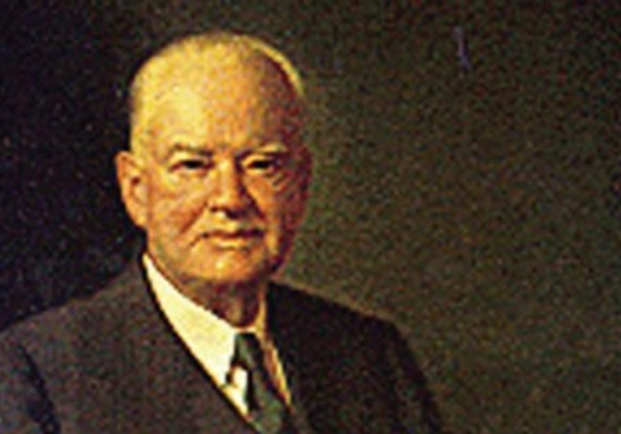 US president Herbert Hoover