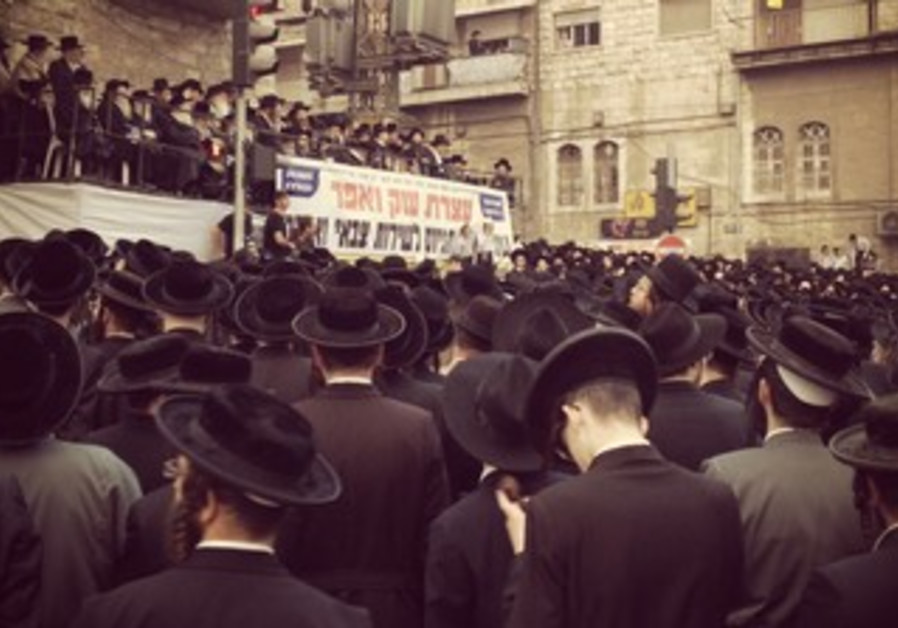 Haredi protest against enlistment in Jerusalem