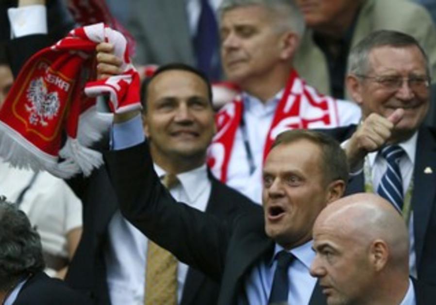 Polish Prime Minister Donald Tusk at Euro '12 game