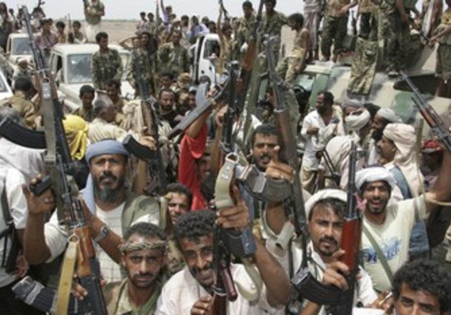 Tribesman in Yemen celebrate anti-terror operation