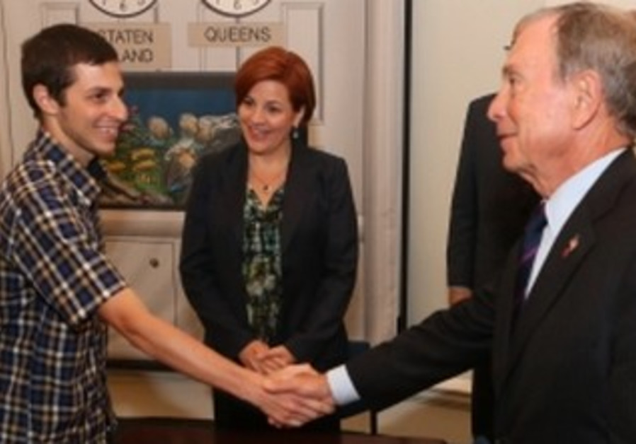 Gilad Schalit hosted by NY Mayor Bloomberg