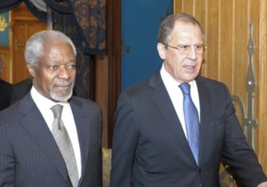 Kofi Annan with Russian FM Lavrov
