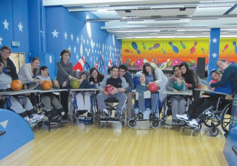 Aleh children at the bowling alley