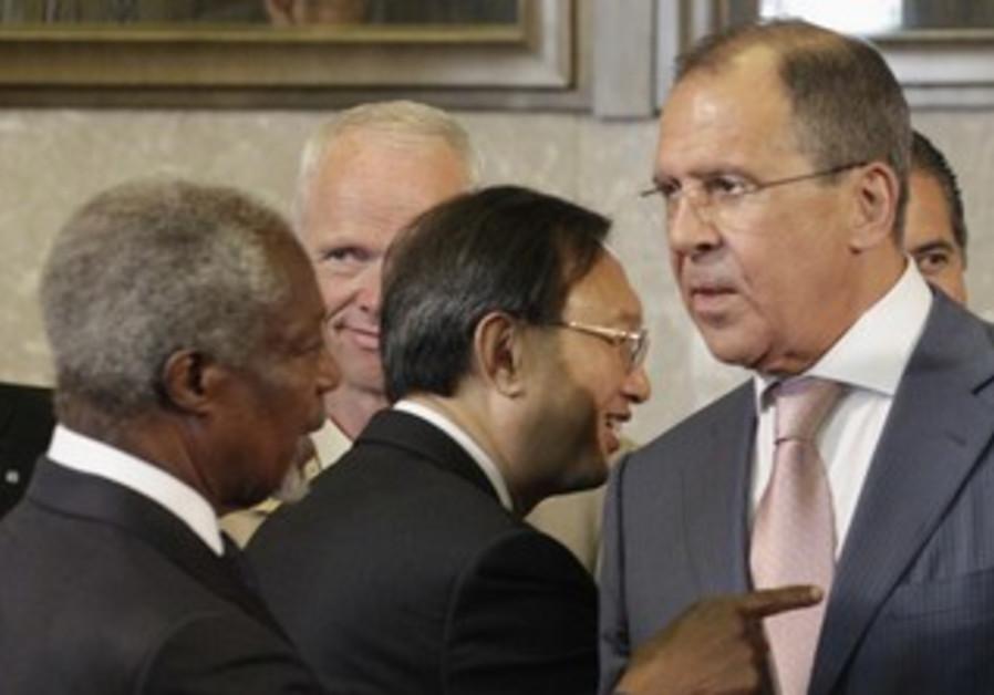 Special Syria envoy Annan and Russian FM Lavrov