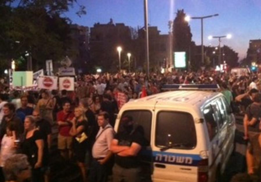 Social justice protesters hit streets in Tel Aviv