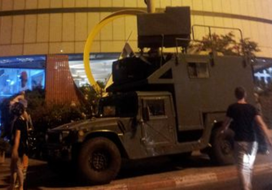 'Raccoon' - IDF surveillance vehicle in Tel Aviv.