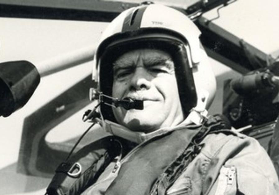Shamir in cockpit of Cobra helicopter gunship