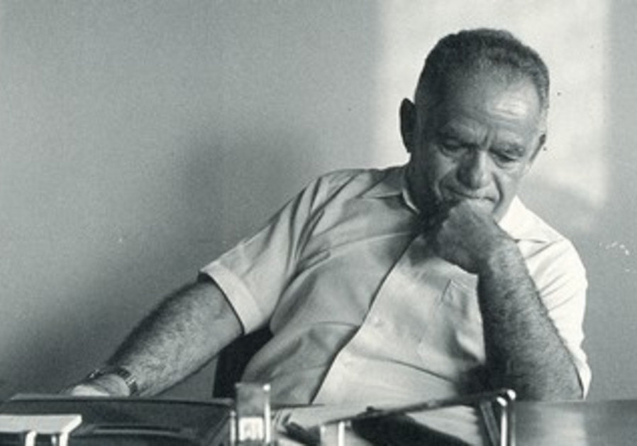 Shamir sits in contemplation in his office in 1983