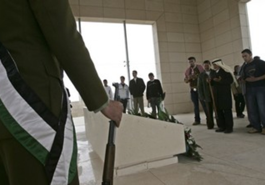 Yasser Arafat's tomb at the Muqata in Ramallah