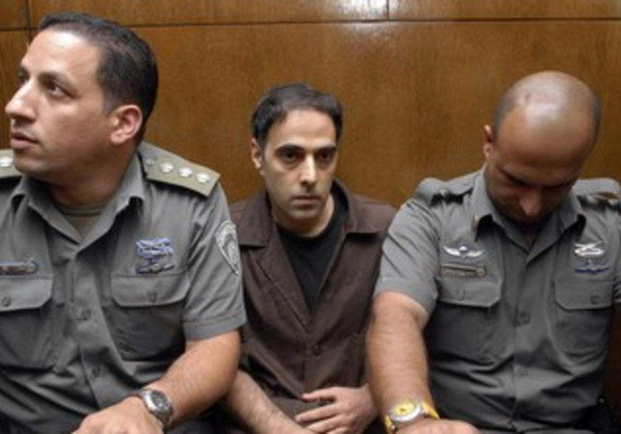 Yigal Amir in court [file photo]