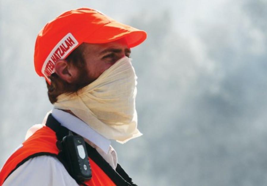Israeli Fire and Rescue Serviceman