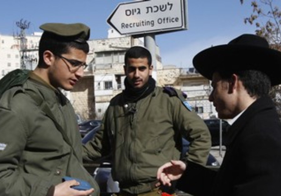 Haredi with IDF soldiers