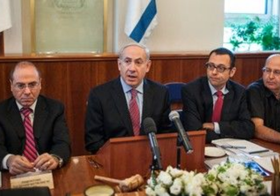 Prime Minister Binyamin Netanyahu at cabinet