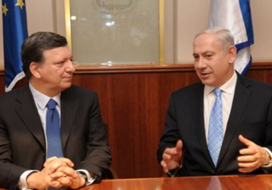 Netanyahu with European Commission's Barroso