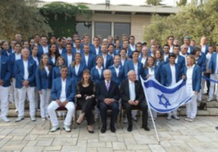President Peres hosts Israeli Olympic delegation