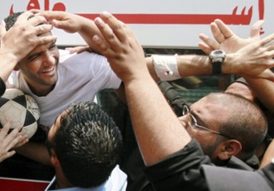 Palestinian soccer player Mahmoud Al-Sarsak