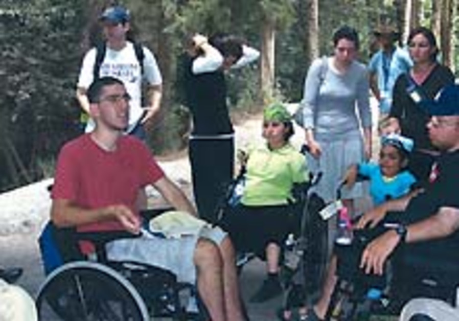 Hiking in a wheelchair