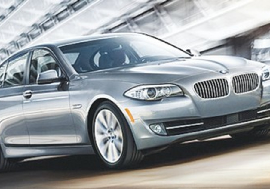 The BMW 528i costs NIS 400,000