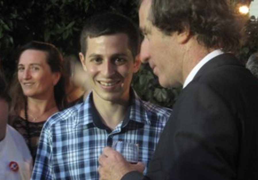 Gilad Schalit at Bastille Day fete in Jaffa