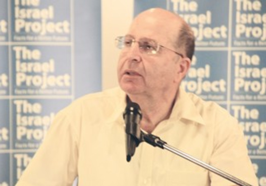 Strategic Affairs Minister Moshe Ya'alon