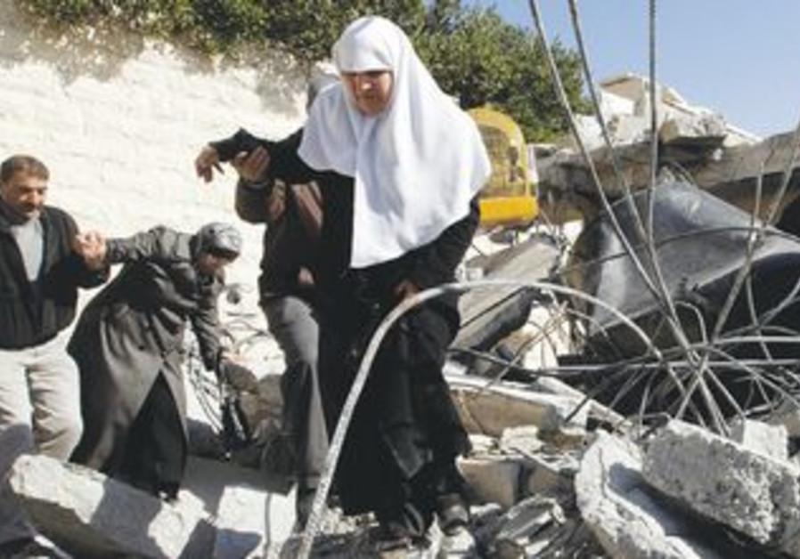 A demolished Palestinian home [illustrative]