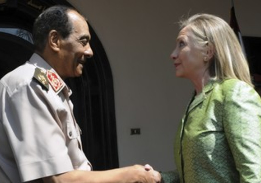 Hillary Clinton with Egypt's Tantawi
