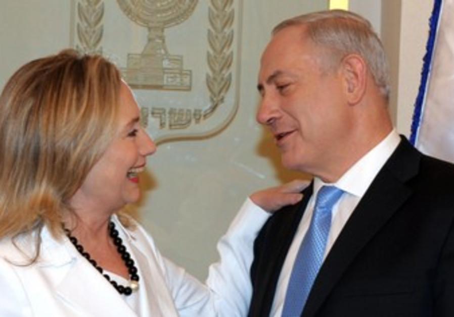 Clinton and Netanyahu meet in Israel.