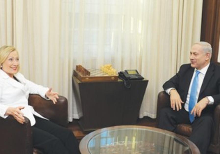 Clinton meets with Netanyahu