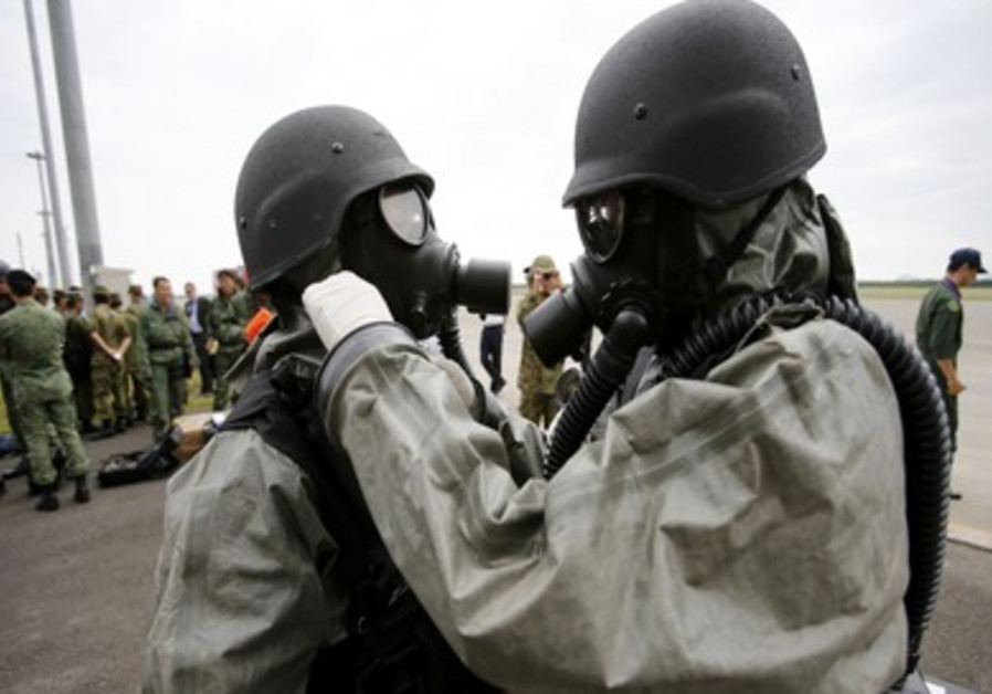 Soldiers in protective gear (Illustrative)