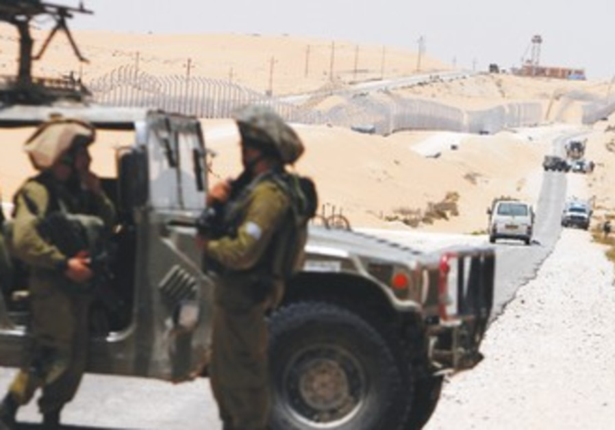 SOLDIERS SURVEY the scene near Kadesh Barnea