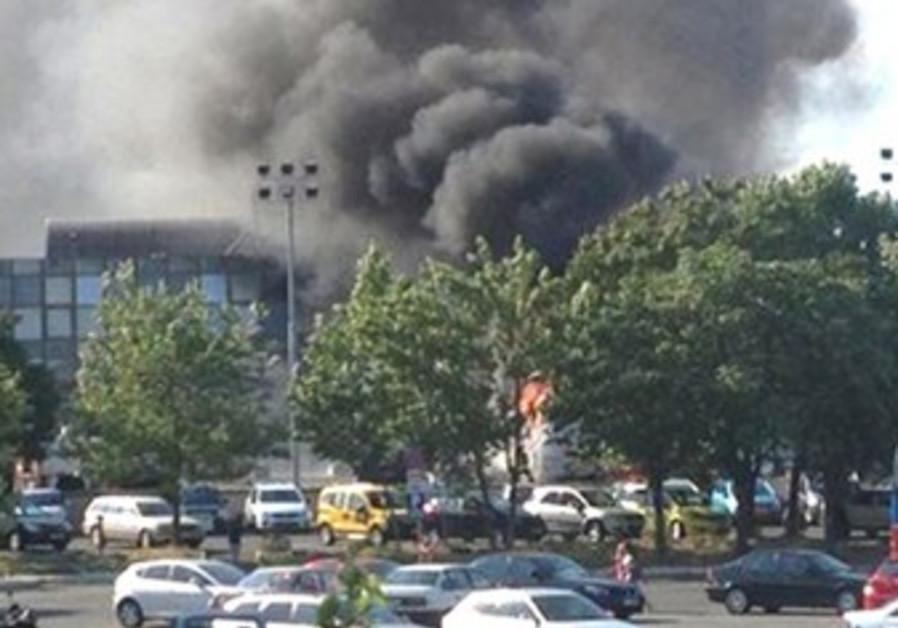 Smoke in Bulgaria bombing